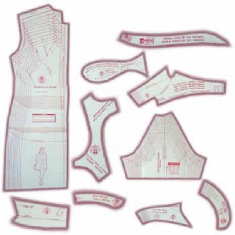 e3e389a29a 03 - Kit de Moldes Para Costura de Vestidos   Blusas Adulto