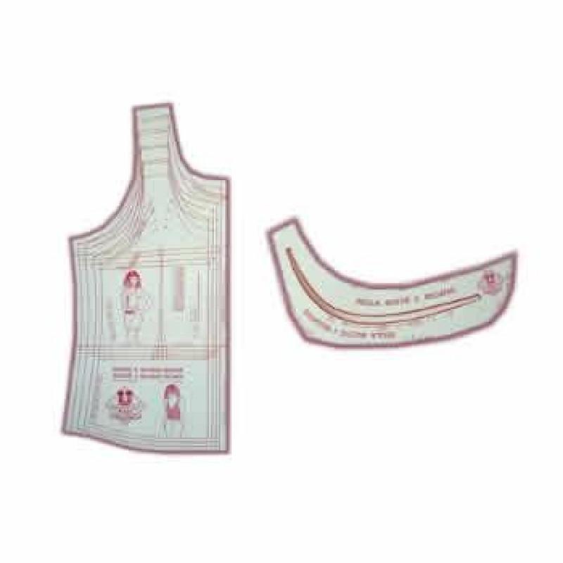 5238be6644 13 - Kit de Moldes Para Costura De Bustiês   Camisetas Regatas em Tecido  Plano Adulto