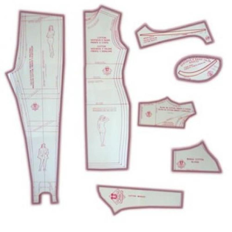 6197f94f87 14 - Kit de Moldes Para Costura Feminino Adulto (Vestidos