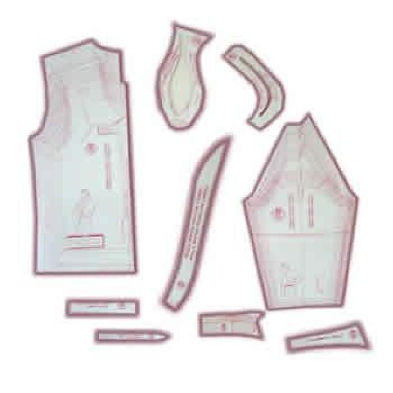11cc3a3f3d 18 - Kit de Moldes Para Costura De Camisas Sociais   Esporte Masculina  Adulto - Técnica de Alfaiate