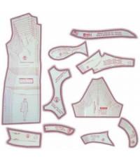 03 - Kit de Moldes Para Costura de Vestidos & Blusas Adulto