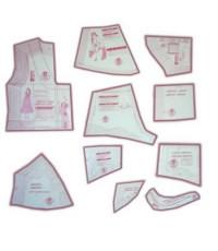 04 - Kit de Moldes Para Costura De camisolas, robes, babydoll & shortdoll