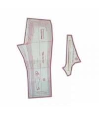06 - Kit de Moldes Para Costura De Calça Social & Esporte Adulto - Técnica de Alfaiate