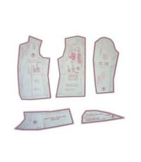 09 - Kit de Moldes Para Costura De Blazers Clássicos Feminino Adulto Manga 2 Folhas - Técnica de Alfaiate