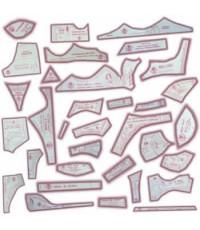 11 - Kit de Moldes Para Costura De Sutiãs & Calcinhas Adulto, 15 Tipos e Modelos