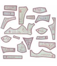 12 - Kit de Moldes Para Costura  Econômico de Sutiãs & Calcinhas Adulto - 4 Tipos e Modelos (P/ M/ G)