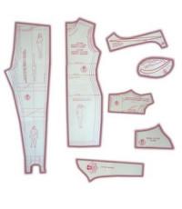 14 - Kit de Moldes Para Costura Feminino Adulto (Vestidos, Saias, Blusas, Calças Fuseau, legging, 3/4 e Bermudas para tecido com elasticidade)