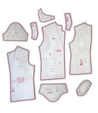 20 - Kit de Moldes Para Costura De Safári & Guarda Pó ( jaleco ) Masculino Adulto