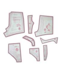 21 - Kit de Moldes Para Costura De Cuecas Comum, Sungas e Shorts Adulto