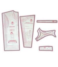 24 - Kit de Moldes Para Costura De Camisetas Unissex Adulto (Pólo, Regata, Cava Reta em Malha, Manga longa e curta)