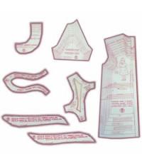 27 - Kit de Moldes Para Costura De Vestidos, Saias e Blusas Infanto Juvenil