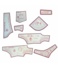 32 - Kit de Moldes Para Costura De Calcinhas, Biquínis, Tops, Colans e Maiôs Infanto Juvenil