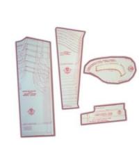 39 - Kit de Moldes Para Costura De Camisetas Unissex Infanto Juvenil (pólo, regata, cava reta, em malha)