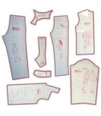 36 - Kit de Moldes Para Costura de Pijamas Unissex Infanto Juvenil