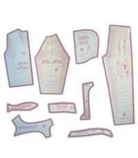 37 - Kit de Moldes Para Costura De Agasalhos de Moletom Unissex Infanto Juvenil (Manga Curta, Longa, Raglan, Comum e Capuz)